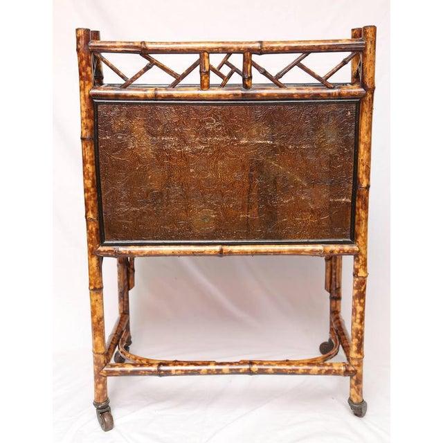 1900s Boho Chic Bamboo Davenport Desk For Sale - Image 4 of 8