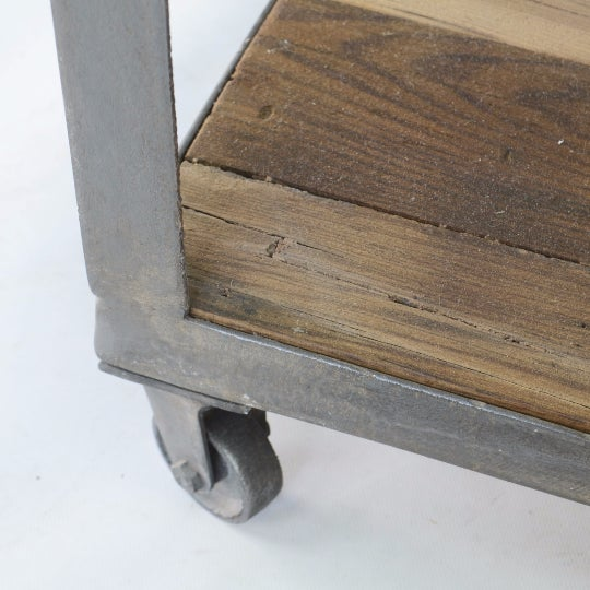 Industrial Bedside Tables - A Pair For Sale - Image 5 of 5