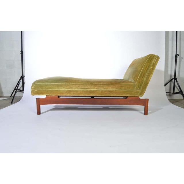 An incredibly rare original chaise lounge chair designed and built by Gerald Luss for Lehigh Furniture Company having...