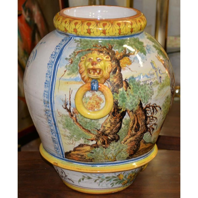 Mid 20th Century Hand Painted Portuguese Jardiniere C.1950 For Sale - Image 9 of 10