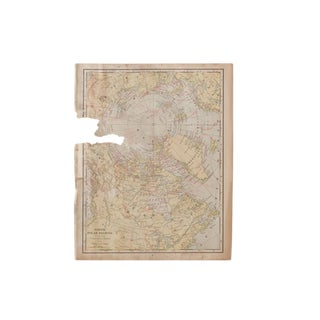 Cram's 1907 Map of North Polar Regions For Sale