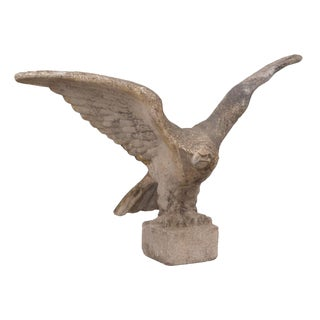 1920s Swedish Large Cast Stone Eagle For Sale