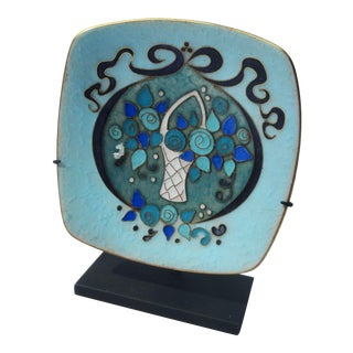 Enameled Art Moderne Tray For Sale