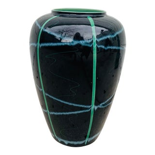Oversized Memphis Style Vase by Scheurich Keramik For Sale