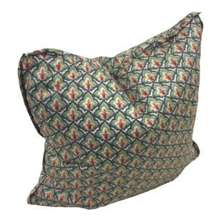 Provence Fleur-De-Lis Block Print Pillow For Sale