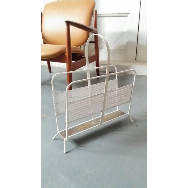 Mid-Century Modern Magazine Rack From France by Mathieu Matégot For Sale - Image 3 of 6