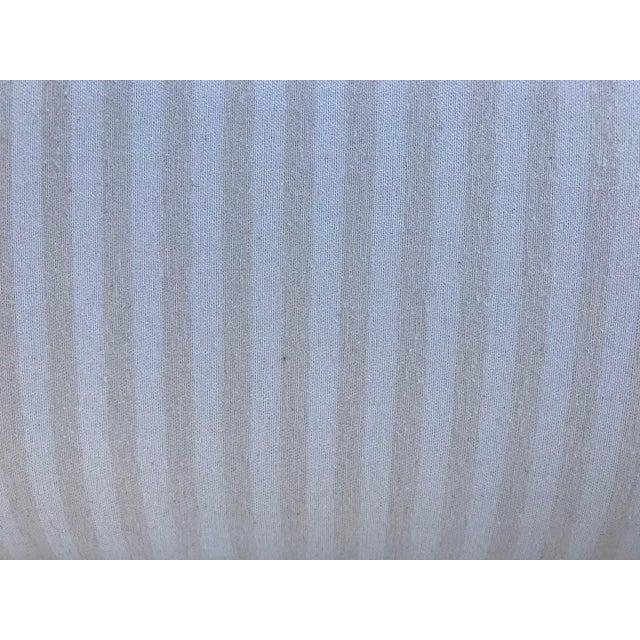 Mid-Century Modern White Linen Sofas - a Pair - Image 4 of 7