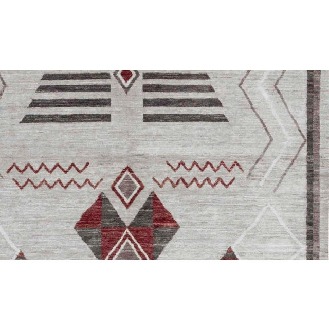 Contemporary Contemporary Hand Woven Wool Rug - 6'3 X 9'2 For Sale - Image 3 of 4