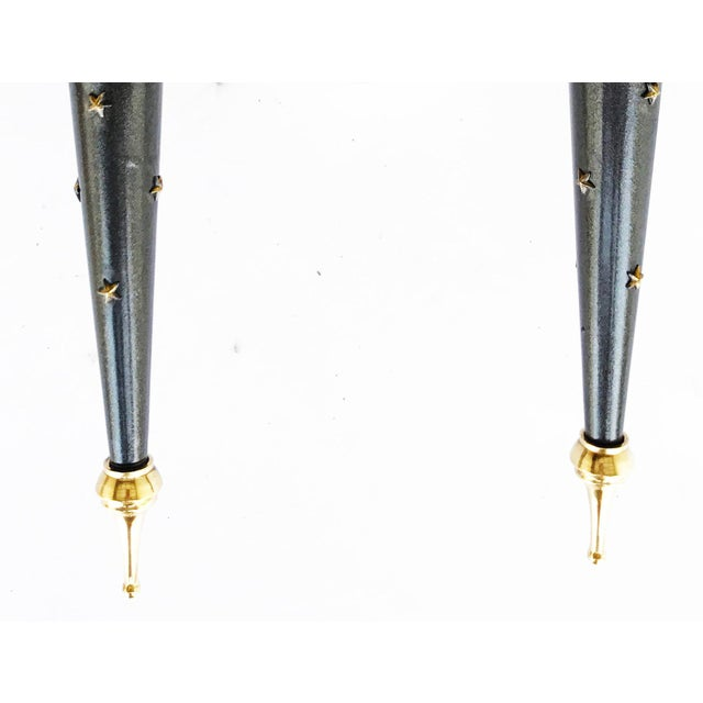 Mid-Century Modern 1950s Jacques Adnet Sconces - A Pair For Sale - Image 3 of 6