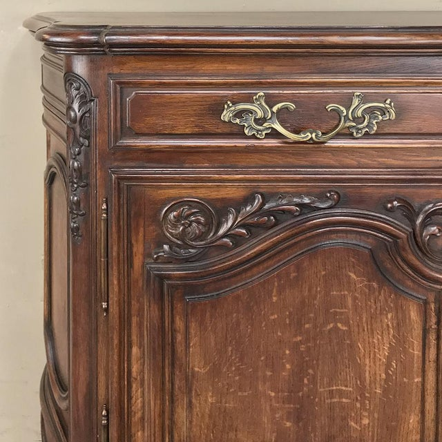 Antique Country French Louis XV Step-Front Buffet For Sale - Image 9 of 13