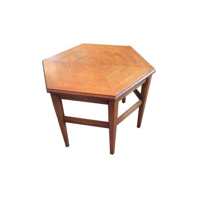 Heritage Teak Hexagon Side Table - Image 1 of 6