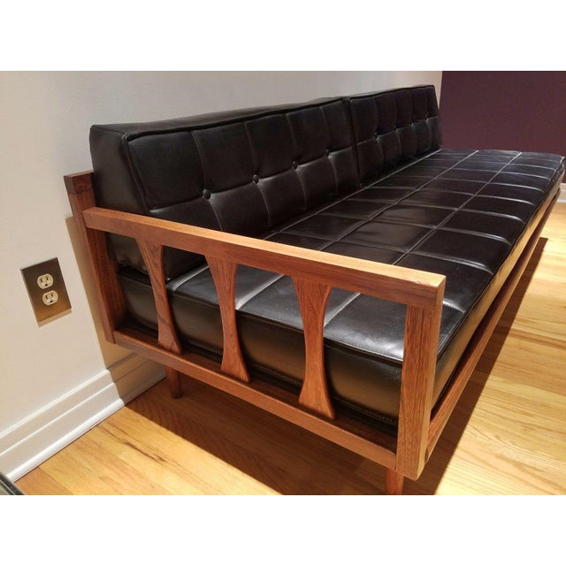 Mid Century Modern Vinyl Daybed / Loveseat - Image 2 of 11