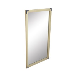 "Slim Chrome Campaign Mirror, 24.5 X 44.5"" For Sale"