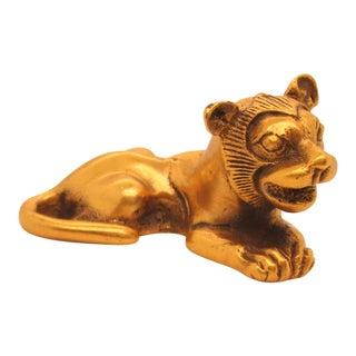 Miniture Gilt Bronze Lion Metropolitan Museum of Art For Sale