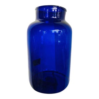 Cobalt Blue Glass Jar For Sale