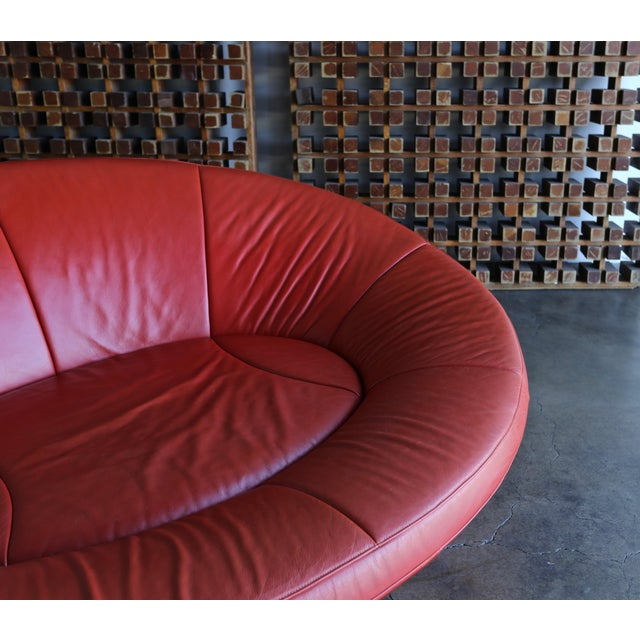 Jane Worthington DS 152 Red Leather Sofa for De Sede For Sale In Los Angeles - Image 6 of 13