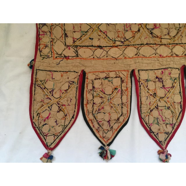 Indian Embroidered Mirror Valance For Sale - Image 9 of 10