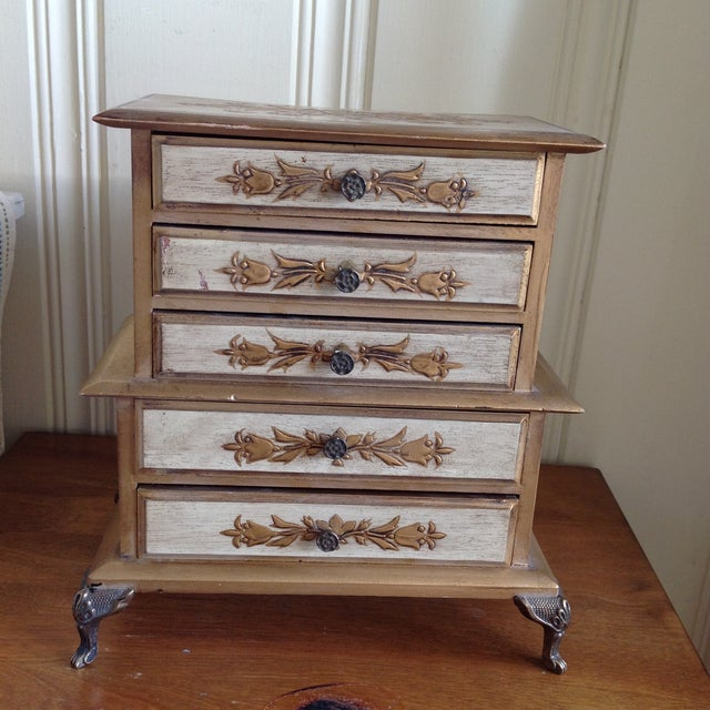 Mid-Century French Provincial Jewelry Box - Image 2 of 9