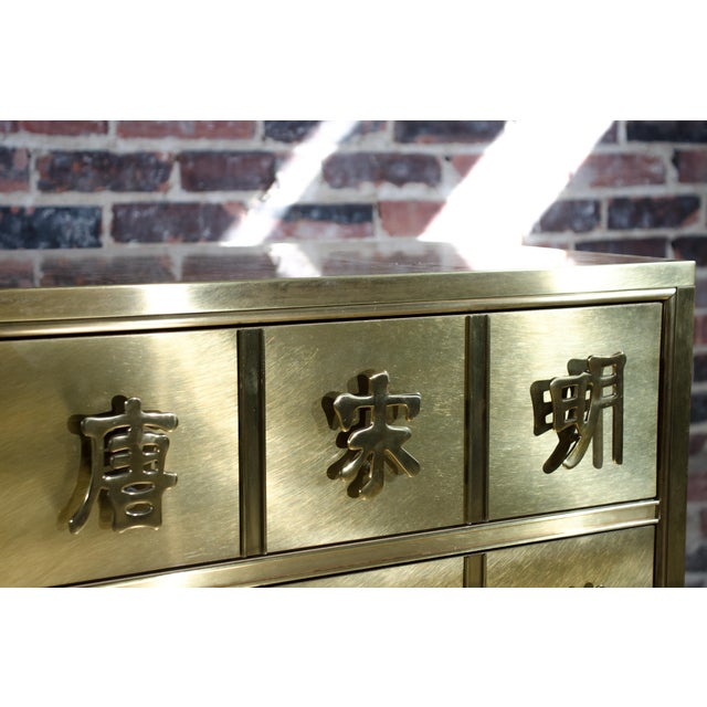 Chinoiserie Mastercraft Chinese Brass Chest of Drawers For Sale - Image 3 of 8