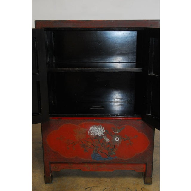 Red Chinese Polychrome Cabinets - A Pair - Image 6 of 8