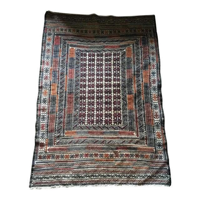 Vintage Turkish Kilim Rug - 3′11″ × 6′2″ - Image 2 of 7