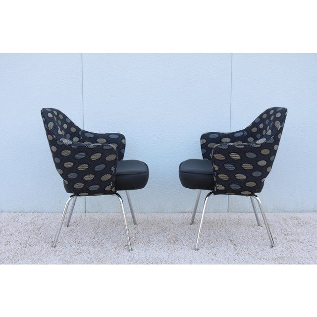 Silver 1950sMid-Century Modern Knoll Eero Saarinen Executive Arm Chairs - a Pair For Sale - Image 8 of 13