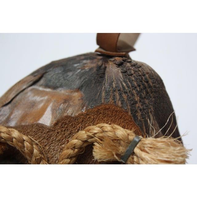 Whimsical Folk Art Coconut Owl Sculpture For Sale - Image 12 of 13