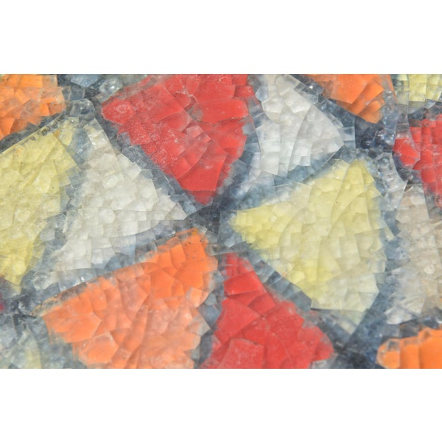 Bitossi Glazed Ceramic Box With Fused Glass Mosaic Top For Sale In Miami - Image 6 of 9