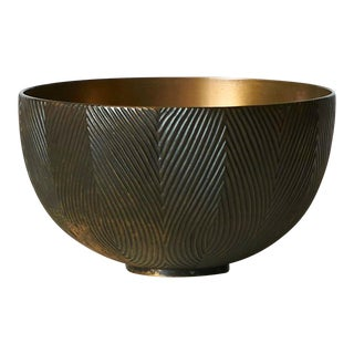 Limited Edition Axel Salto Bronze Bowl For Sale