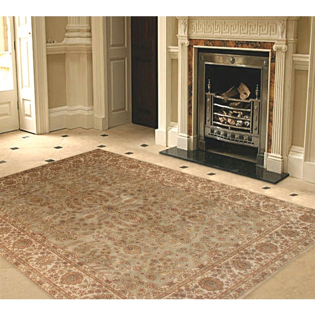 """Pasargad Tabriz Collection Rug - 8'x10'1"""" - Image 2 of 2"""