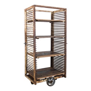 1950s French Industrial Bakery Cart For Sale