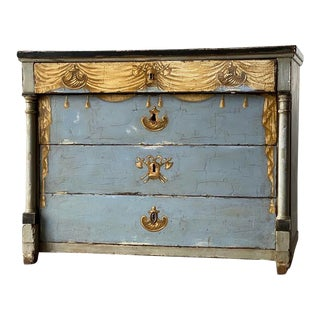 19th Century Antique Swedish Painted Chest For Sale