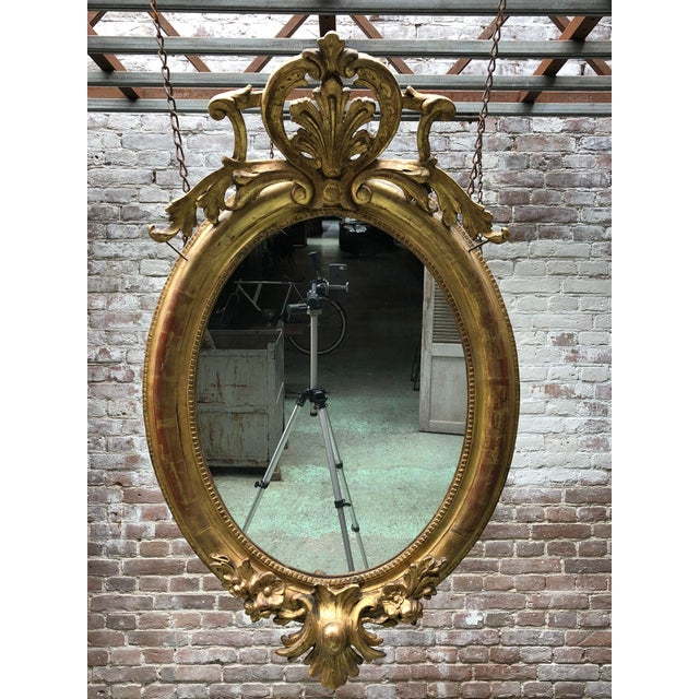 19th Century Ovale Mirror South of France For Sale - Image 13 of 13