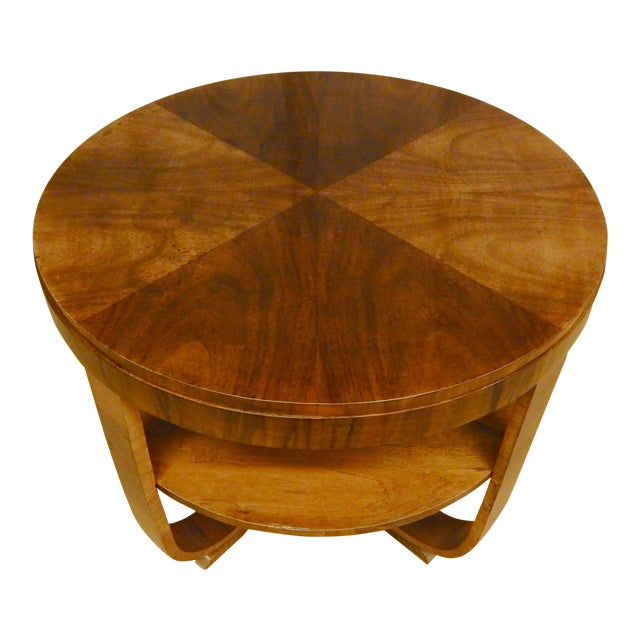 1930's Art Deco Round Table For Sale