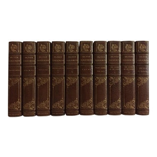 20th Century The Works of Oliver Goldsmith, Turk's Head Edition Leatherbound Volumes - Set of 10 For Sale