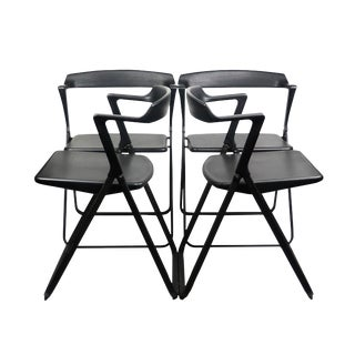 Set of 4 Blitz Folding Chairs by Motomi Kawakami for Skipper For Sale