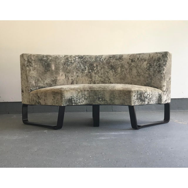 Edward Wormley for Dunbar Curved Settee For Sale - Image 9 of 9