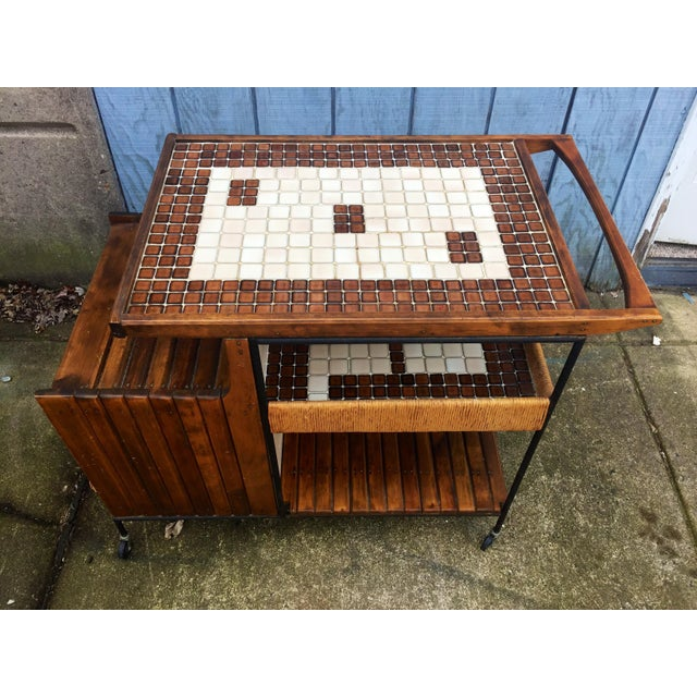 Arthur Umanoff Arthur Umanoff Mid-Century Bar Cart For Sale - Image 4 of 11