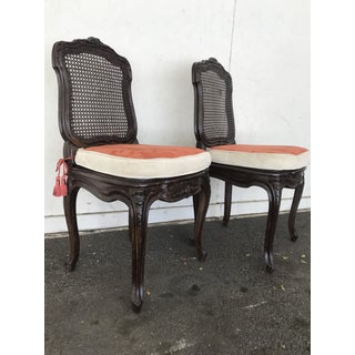 Napoleon III Caned Chairs With Cushions - Set of 2 Preview