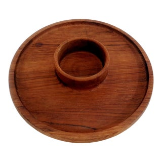 Dansk Ihq Jens Quistgaard Teak Snack Appetizer Serving Tray Dish For Sale