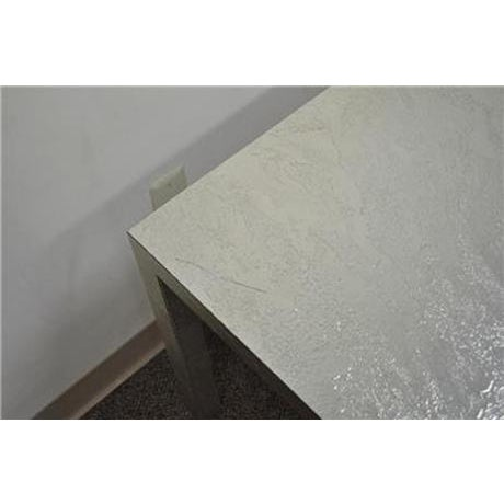 Vintage Mid Century Modern Silver Square Parsons Coffee Side Occasional Table - Image 10 of 12