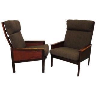 "Pair of High Back ""Capella"" Lounge Chairs by Illum Wikkelsø For Sale"