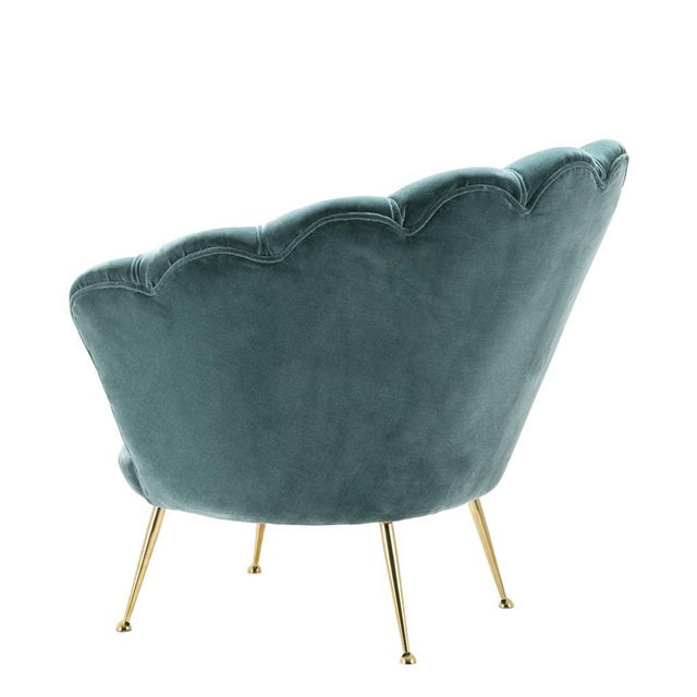 2010s Modern Trapezium Turquoise Shell Shaped Chair For Sale - Image 5 of 6