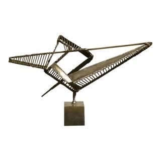Steel Sculpture by Alain Douillard For Sale