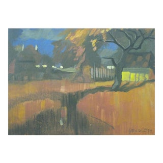 Untitled Landscape Painting by Gacy Ofkja For Sale