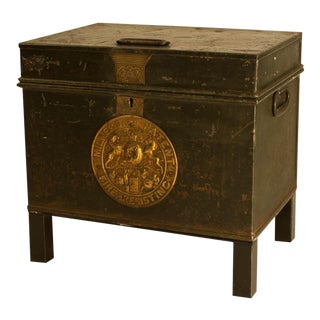 English Victorian Metal Fire Safe