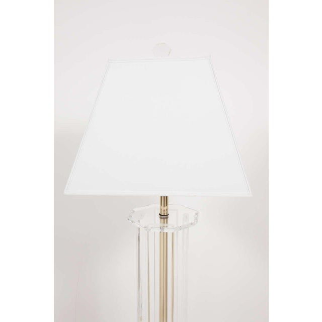 Mid-Century Modern Lucite Floor Lamp For Sale - Image 3 of 6