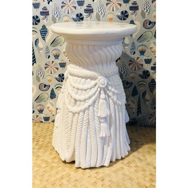 Hollywood Regency Hollywood Regency Dorothy Draper Plaster Tassel Rope Table For Sale - Image 3 of 3