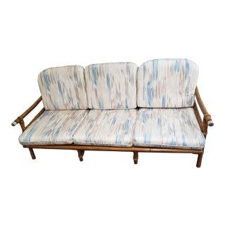 1950s Vintage John Wisner Fricks Reed Co. Far Horizon Rattan Sofa For Sale
