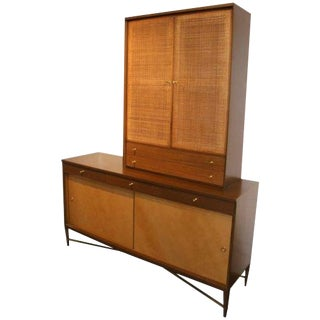 Paul McCobb for Calvin Credenza Sideboard With Bar Top